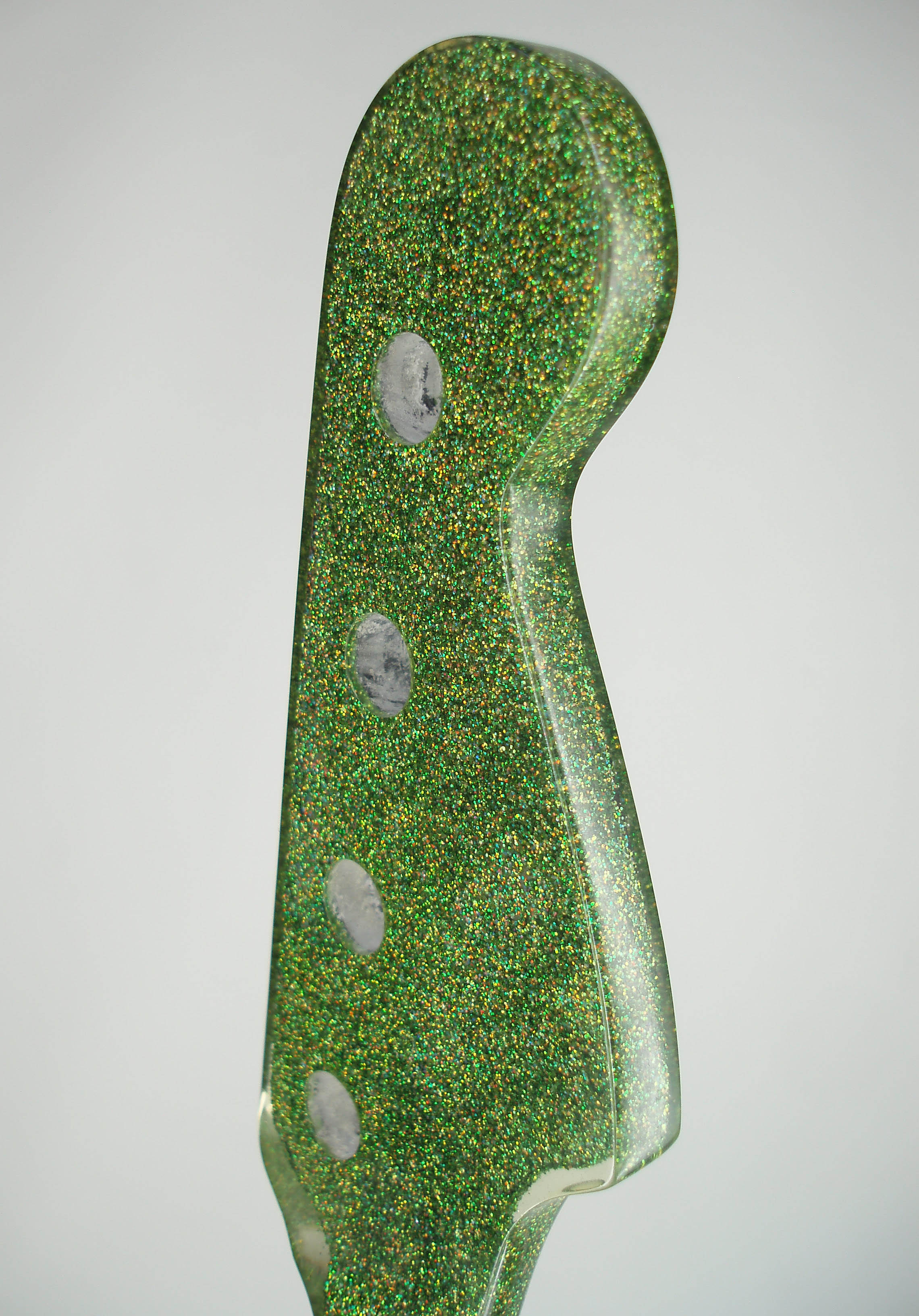 Green Holographite Finish close-up