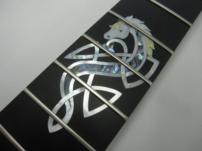 MOP & Paua Celtic Horse 12th fret & more inlay
